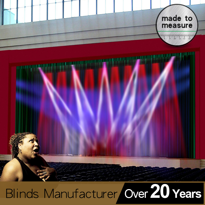 FIRE RETARDANT FABRIC BLACK 80/% BLACKOUT Material Curtains Display Theater Stage