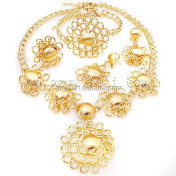 Gold Jewelry Turkey Big Hot Jewelry Set African Nice Special Design