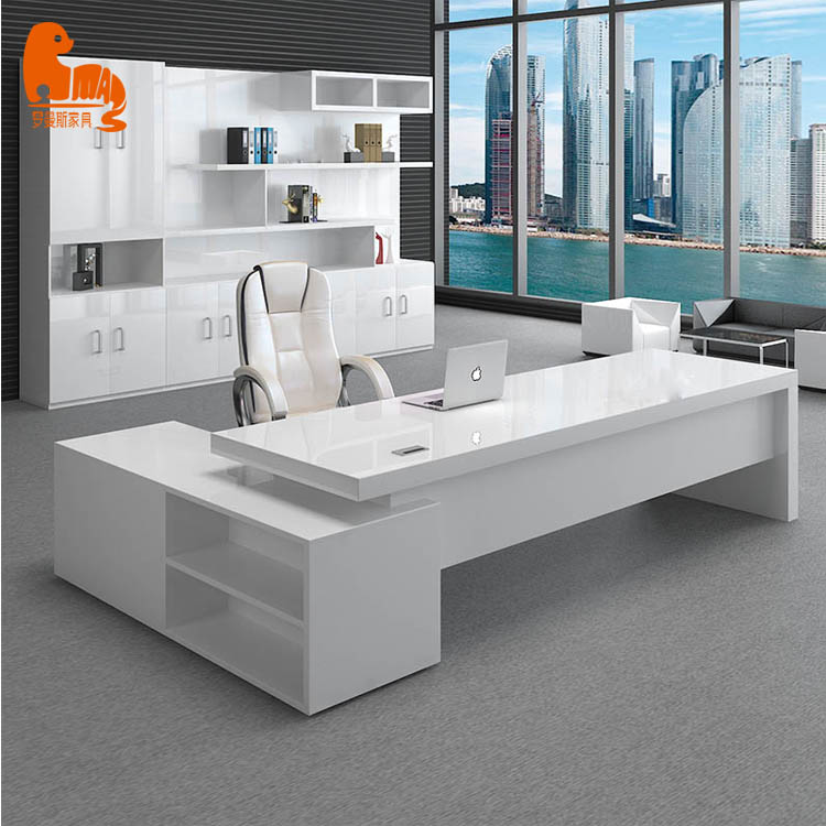 Luxury High Class Mdf White High Gloss Paint L Shaped Office Desk Buy Luxury Wooden Office Desk L Shaped Office Desk White High Gloss Office Desk Product On Alibaba Com