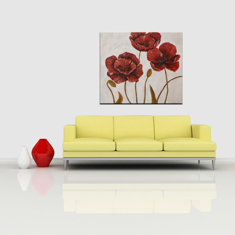 Simple handmade beautiful decoration flower canvas painting design