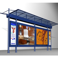 customized high quality advertising public modern prefab bus stop