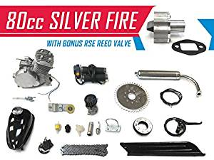 80cc Silver Fire Bicycle Engine Kit Gas Motorized Bicycle