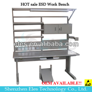 Best price esd assembly line working table workbench led lighting