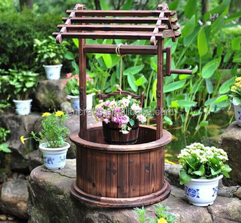 Decorative Wooden Wishing Well Garden Wedding