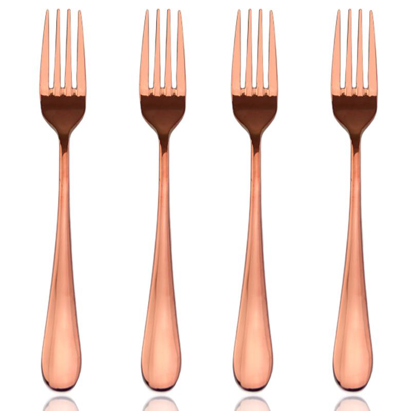 Rose or couverts laiton couverts cuivre la coutellerie inoxydable lot de couverts de table id - Lot de couvert de table ...