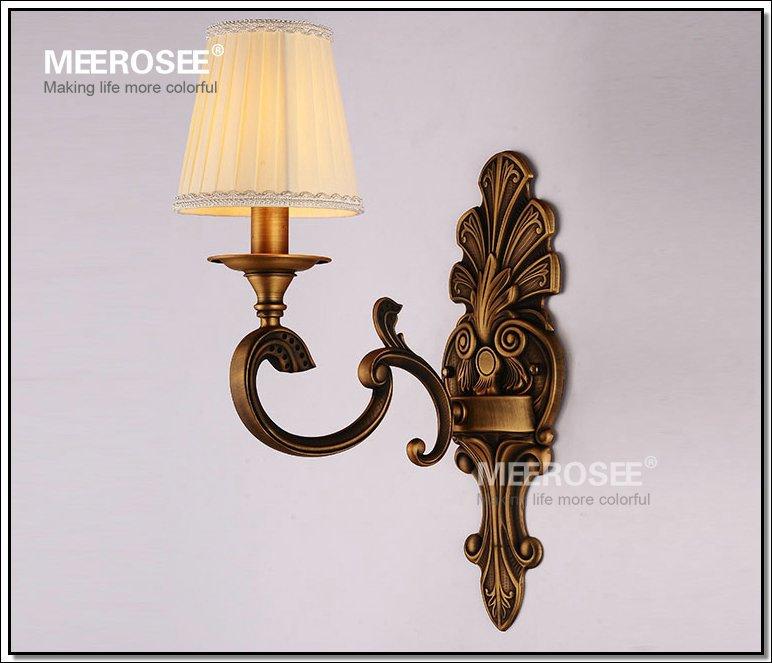 Brass Wall Sconce Single Light Chandelier Sconce With Lampshades – Single Light Chandelier