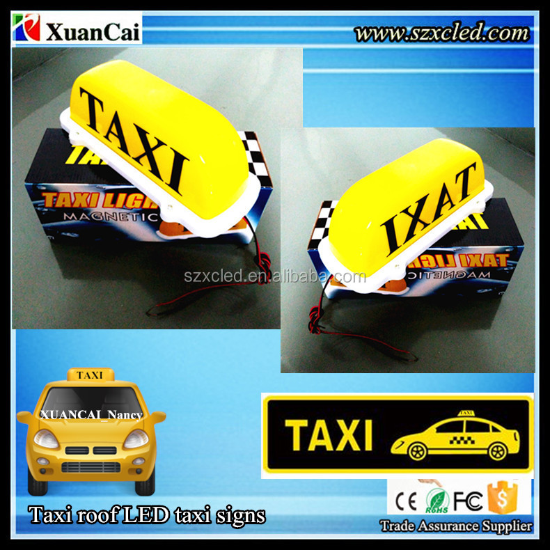 2015 Hot sales 12V Taxi roof light Car Top sign outside waterproof LED Blue TAXI display/panel/screen