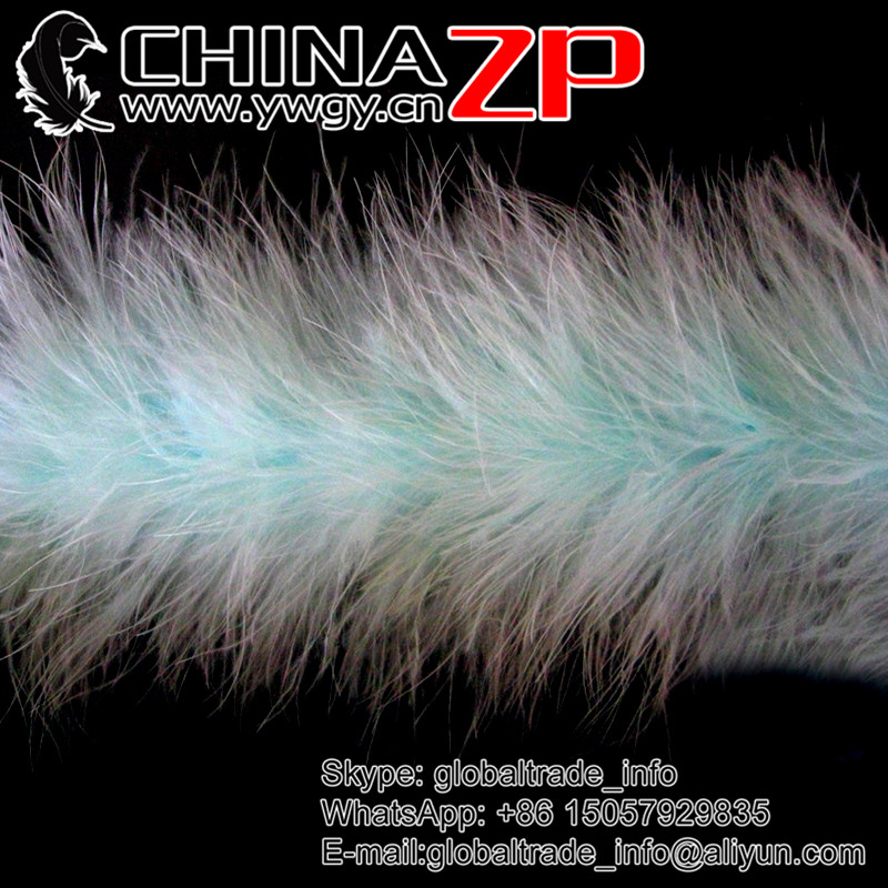 NO.1 Feathers Supplier CHINAZP in Stock Factory Wholesale Dyed Fresh Mint Turkey Marabou Feather Plumage Boas