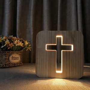 FS-T1887W 2018 new product cross shape Jesus decoration wooden new product ideas 2018