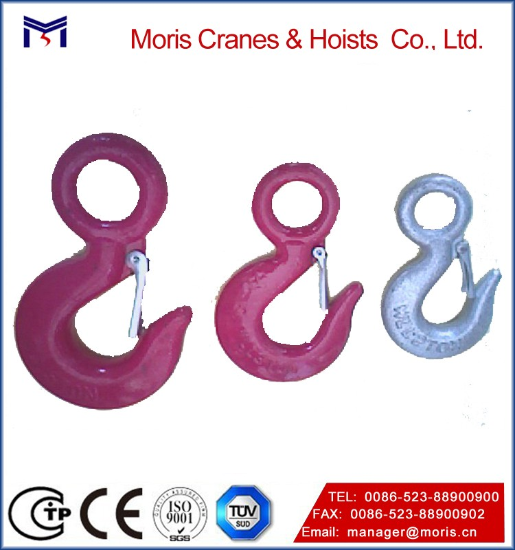 Industrial Grade Alloy Steel Eye Foundry Hook, eye hook with safety latch