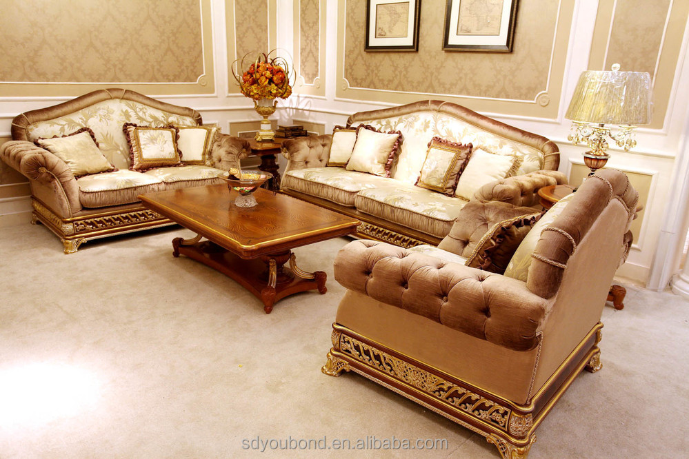 Italian Luxury Living Room Furniture New Model Wooden Classic