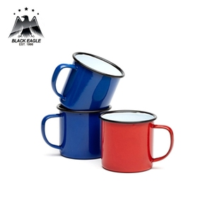 Eco friendly size assorted steel enamel camp cup