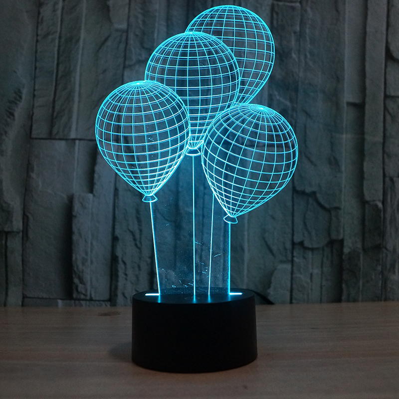 FS-2813 3D optical illusion led lamp for the house fancy gift items