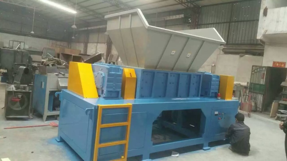 Industriële afval plastic schroot recycling shredder/pvc pp pe ldpe plastic crusher