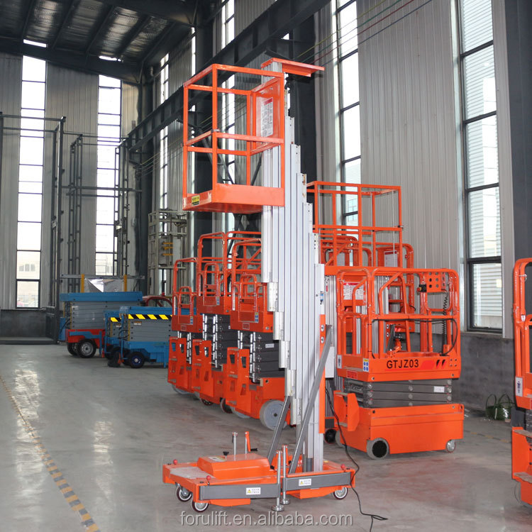 5m/min lifting speed mobile man lift used for rough terrain