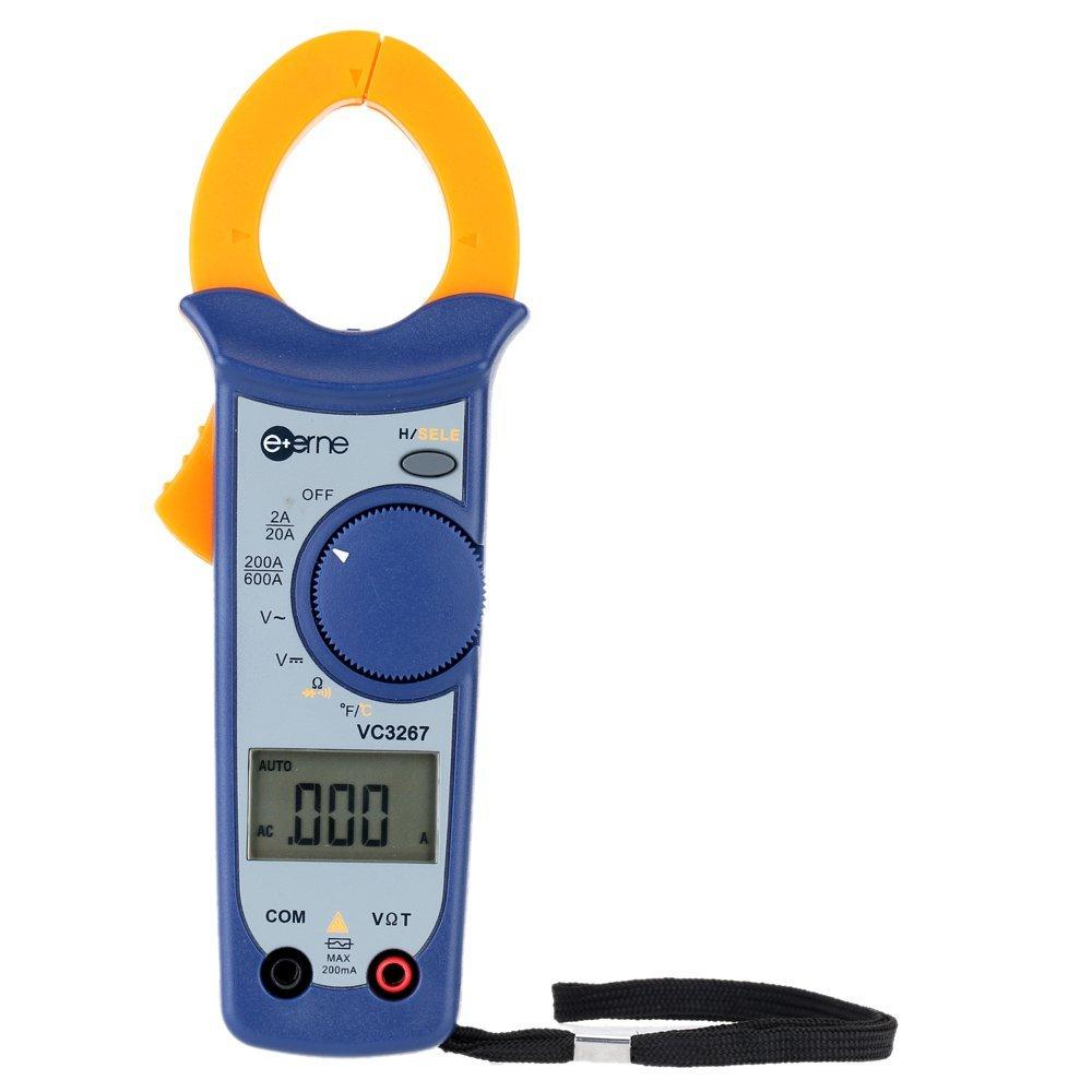 GXG-1987 Digital AC/DC Current Voltage Resistance Clamp Meter Multimeter Temperature Measurement Auto Range Digital Clamp Meter Handheld Clamp Multimeter