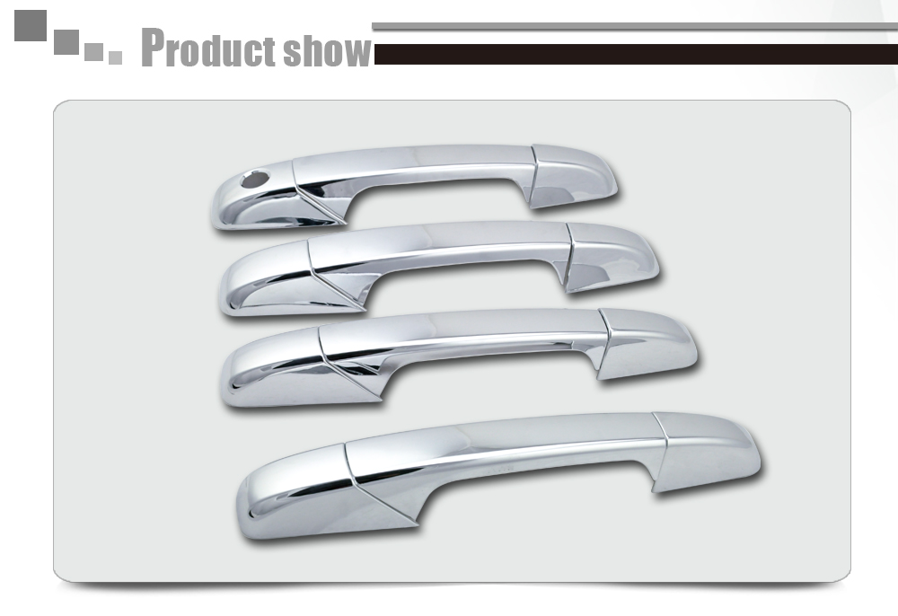 2007-2013 Chevy Silverado/ Sierra Door Handle Cover ABS Chrome Auto Parts 4D No PSKH