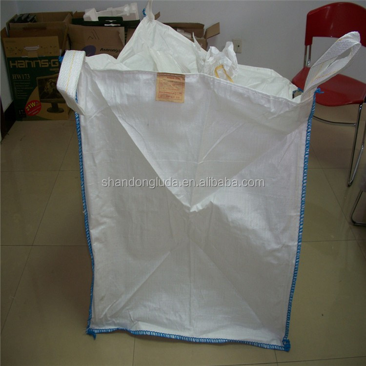 ton bag with printing Skirt Top Bulk Bag jumbo pp woven ton bag