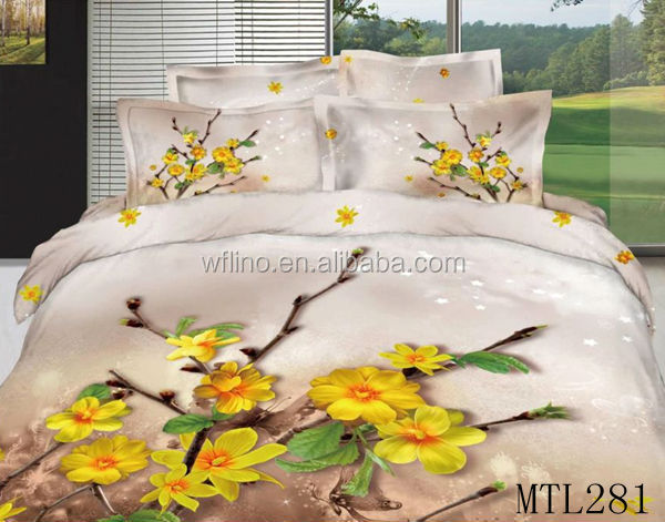 3d Luxury Printed Fabric Painting Designs Bed Sheets Buy Fabric