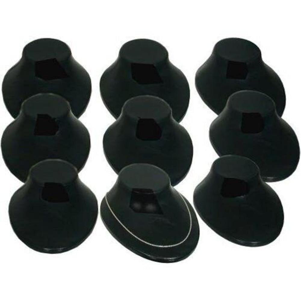 9 Black Plastic Necklace Jewelry Displays Bust Chain Holders