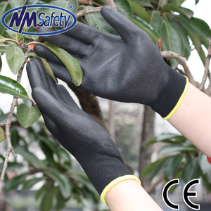 NMSAFETY NYLON OR POLYESTER PU COATED GRIP SAFETY WORK GLOVES GARDENING BUILDERS ENGINEERING MECHANIC