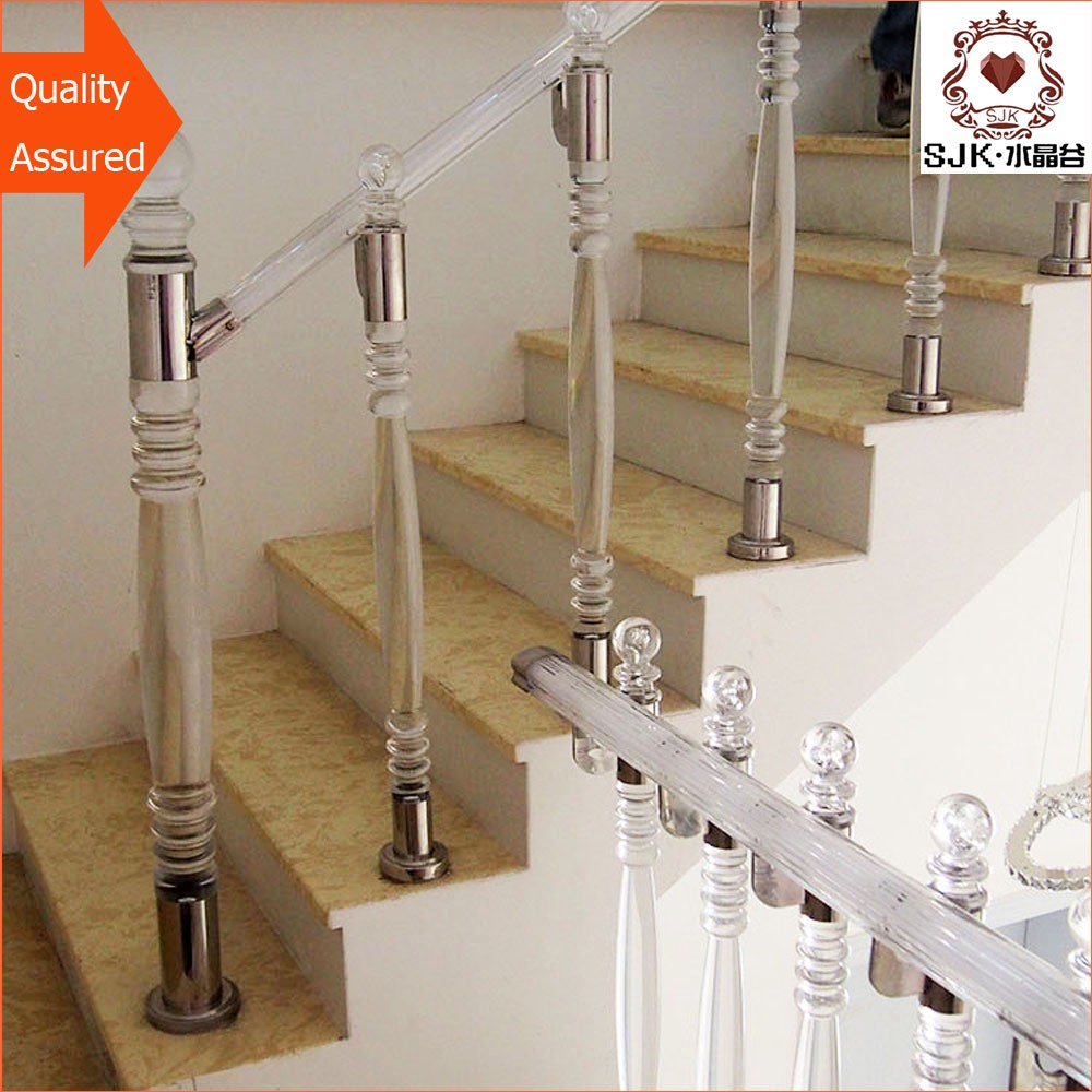 Indoor Outdoor Railings Banisters,Hot Sale Acrylic Stair