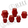 Red round hexagon screw busbar insulators,busbar composite insulator