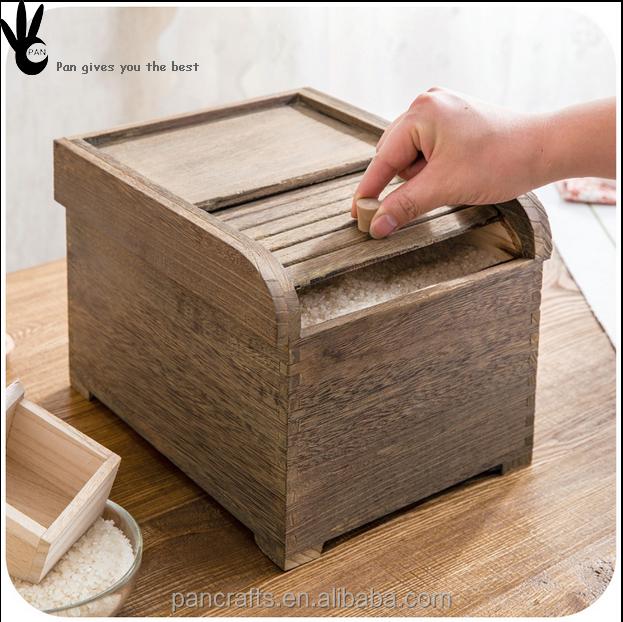 2016 Hot Sale Eco Friendly Kitchen Utensils Healthy Wooden Rice Storage  Container   Buy Rice Storage Container,Wooden Rice Storage Container,Kitchen  Rice ...