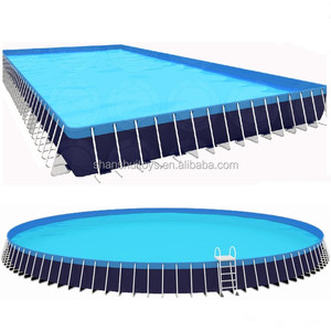 2019 newest type swimming pool, giant metal frame pool inflatable waterpark equipment for sale