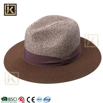 4f777eafbc5 JAKIJAYI brand fashion classic panama hat foldable custom straw paper  panama hat