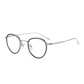 Wholesale fashion round metal eyeglasses modern optical frames