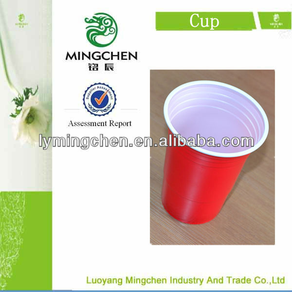 2oz red plastic cup