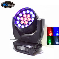 19 DMX Wash Zoom 4in1 RGBW Aura 19x15w LED Moving Head