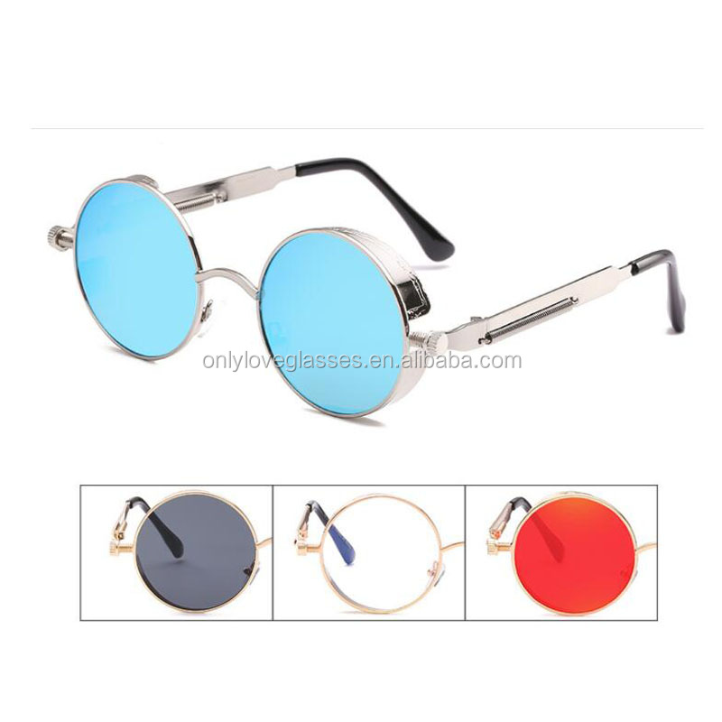 Best quality  Retro metal steampunk  sunglasses