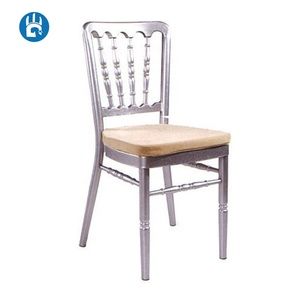 Bamboo lucite silver tiffany chiavari chateau silla naponeon chair for ballroom with ivory cushion