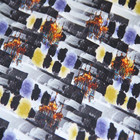 Abstract graffiti digital printing of cotton elastic twill fabric