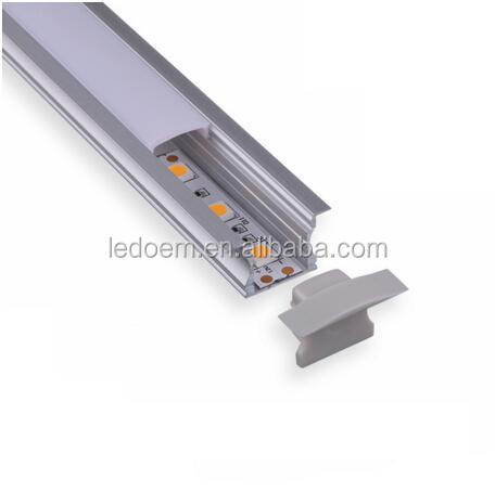 2m/pcs Anodized diffuse/ clear cover slim <strong>aluminum</strong> profile led strip light for led strip light