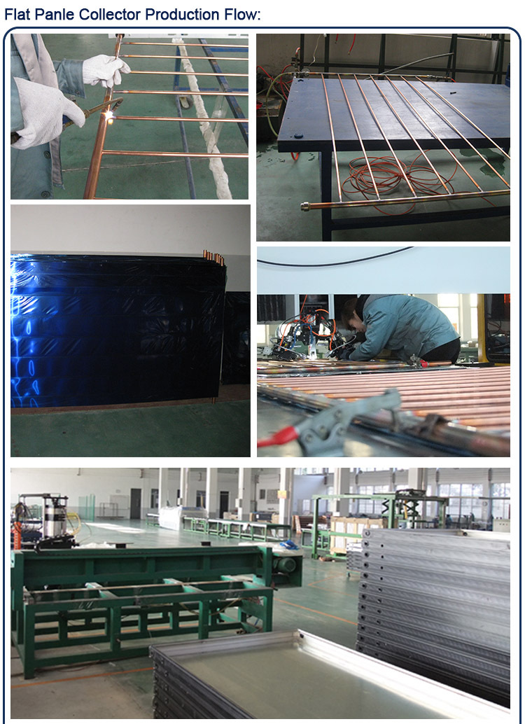Flat Panel Solar Water Heater System Project Pond Air To