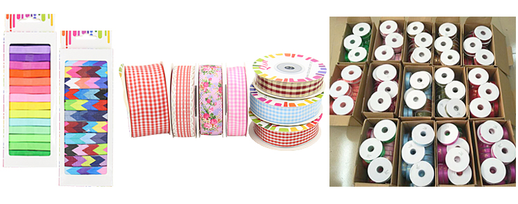 Multi-color double face woven custom printed white satin ribbon 3mm