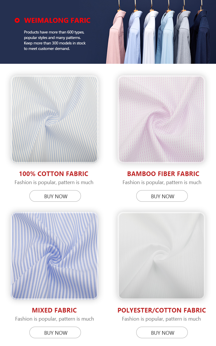 white types pinstripes cotton twill fabric in daily business shirt