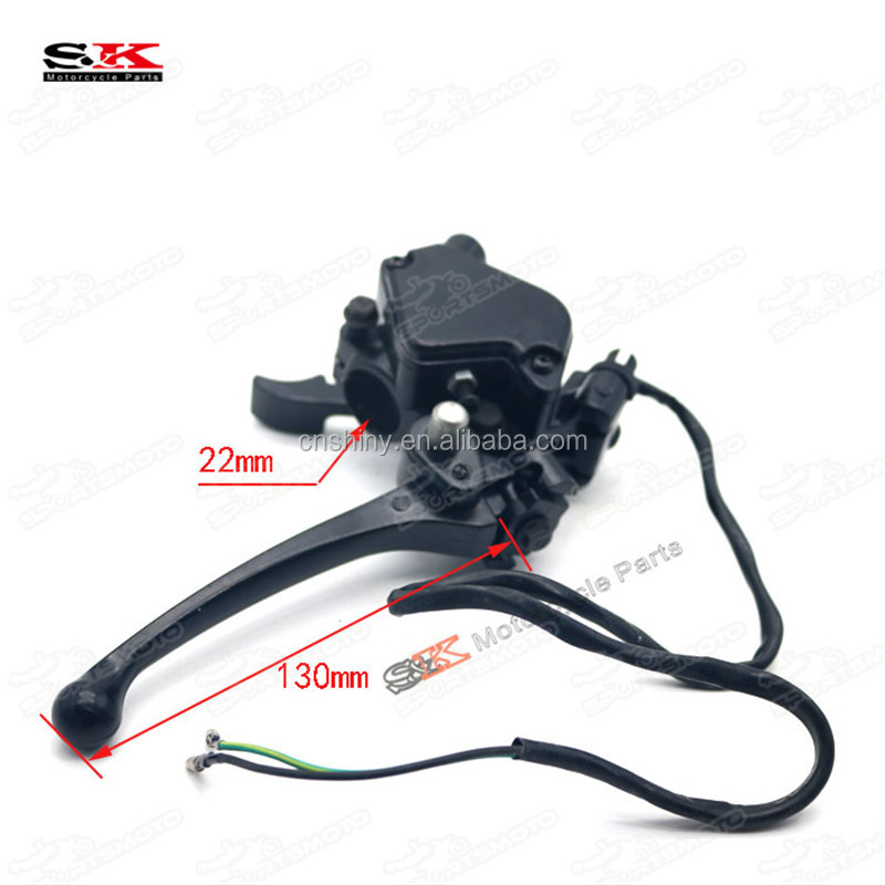 ATV Quad Thumb Throttle Accelerator Brake Lever For 50cc 70cc 90cc 110cc 125cc Motorcycle Go Kart Dual Double Cable Wire Control