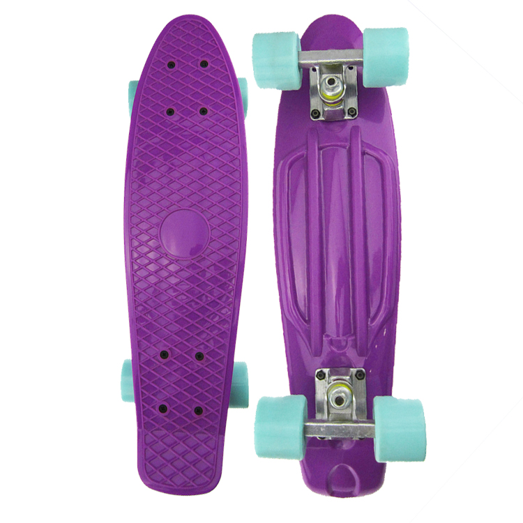 New Design Wholesale Cheap 4 Wheels Long Cruiser Plastic Skateboard for Kids