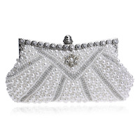 RY1598 New Design Women Evening Bags Handmade Beaded Diamonds Soft Shell Design Day Clutches For Wedding/Party/Dinner Purse