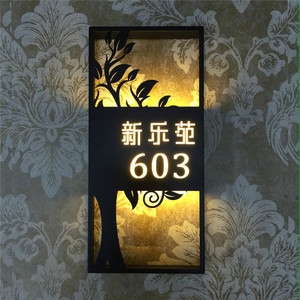 3D stainless steel signage led wall lighting logo letter office door sign
