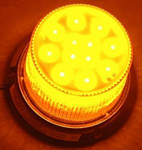 Larson Electronics 0321OXBY5VA Class 1 LED Beacon with 30 Strobing Light Patterns - Permanent Surface Mount - 1440 lm (Amber)