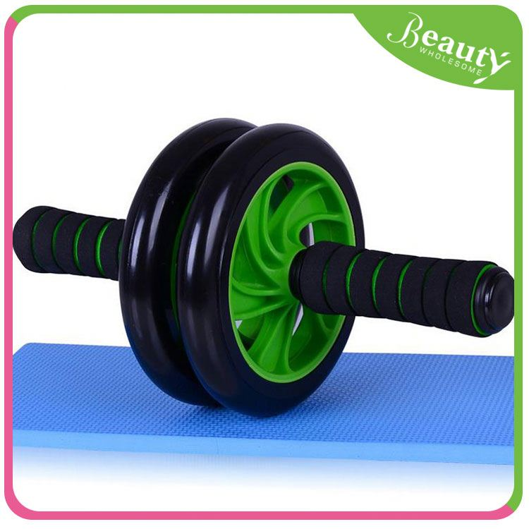 Dual ab wheel for abs H0Tavf slim gym exercise machine