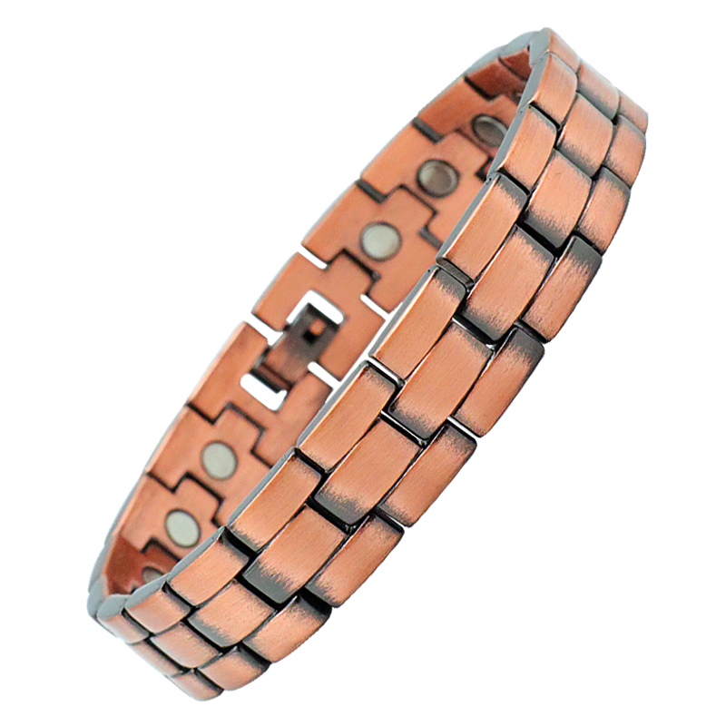 99.95% Pure Copper Health Bead Therapy Brass Bracelet