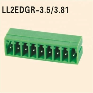 Electronic PCB Green Pluggable/Green Plug-in Terminal Block Pitch3.5/3.81MM