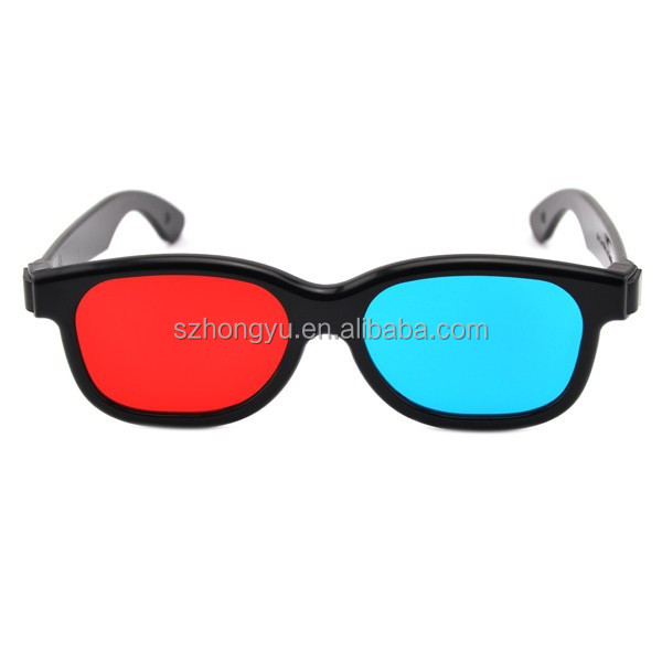 Thin Lenses Plastic Red Cyan 3D Glasses with Factory Price