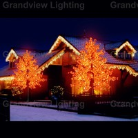 Nature Trunk Cherry Blossom Christmas Led Flower Tree Light - Buy ...